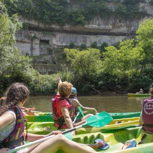 La Roque St Christophe en canoe kayak