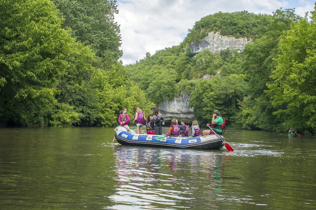 Rafting pour scolaires sur la Vézère